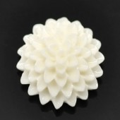 Cabochon chrysant Gebroken wit