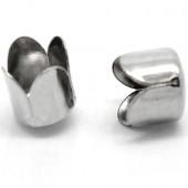 4x Kapjes Donker zilver 8 mm