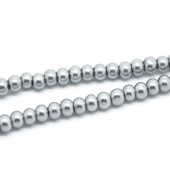 Snoertje Glasparel 4 mm Zilver Grijs