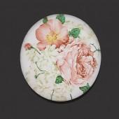 1 x Glazen Rozen Cabochon 25 mm