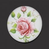 1 x Glazen Roos Cabochon 25 mm