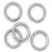 50x roestvrijstalen (304) open ring 8 mm
