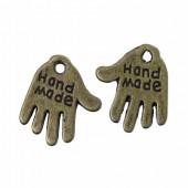 """20 stuks """"Hand made"""" Bedel brons"""