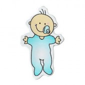 1x Houten Cabochon Baby Blauw