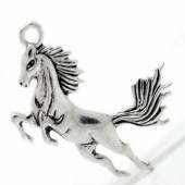 1x Grote Bedel Paard Donker Zilver