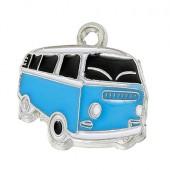 1x Bedeltje Auto Blauw VW Busje