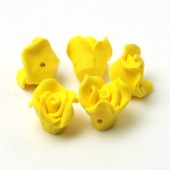 1x Fimo roos Geel