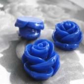 1x grote bloemkraal kobalt blauw
