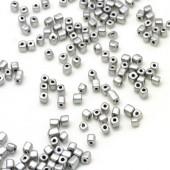 50 gram Rocailles 3 mm blokjes Zilver