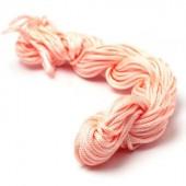 Bosje nylon koord 1 mm Roze - beetje zalm