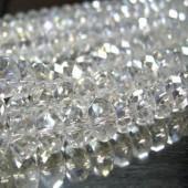 Snoertje 72 stuks Facet AB Transparant glaskralen