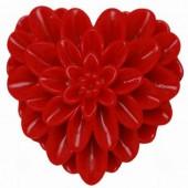 Hartvormige cabochons Rood
