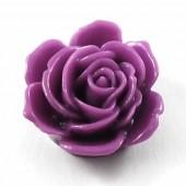 1x Cabochon bloem Paars/Lavendel