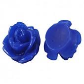 1x roosje blauw 15 mm