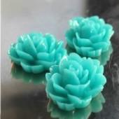 1x roosje donker turquoise