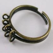 Ring houder Brons