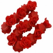 1x Fimo roos Warm Rood 3 cm