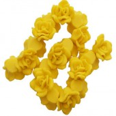 1x Fimo roos Geel 3 cm