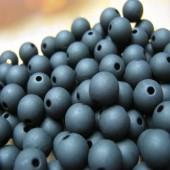 100 stuks mat frosted zwart