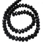 Snoertje Facet Zwart Glas (100 stuks)