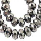 Snoertje Glaskralen Zilver