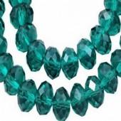 Snoertje 72 stuks Facet donker turquoise