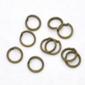 200 stuks Open ring brons 6 mm