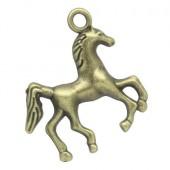 1x Bedeltje Paard/Veulen Brons