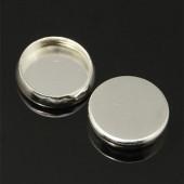 1x cabochon houder licht zilver