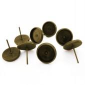 1 Paar Cabochon Stekertjes Brons