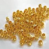 250 stuks Knijpkralen goudkleurig