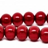 Snoertje Glasparels 6 mm Rood