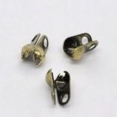 10 Kalotjes 6 x 4.5 mm / brons