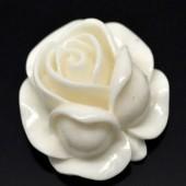 1 stuks kunsthars roosje gebroken wit