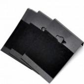 10x Kaartjes voor Oorbellenrek zwart zonder tekst