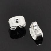 500 stuks stoppertjes licht zilverkleurig (250 paar)