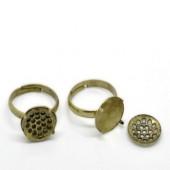 Ring Met Zeefje Brons