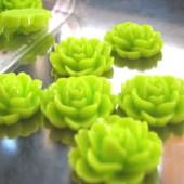1x roosje licht helder lime