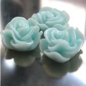 1x roosje licht turquoise