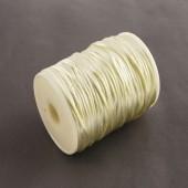 1 Meter nylon soepel vallend koord gebroken wit