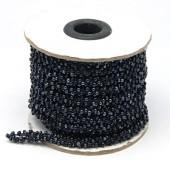Halve meter Rocaille koord Zwart