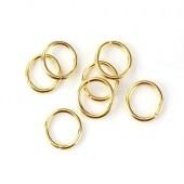 500x Open ring Goudkleurig 9 mm