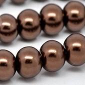 Snoertje Glasparel 6 mm bruin