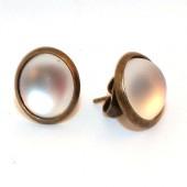 1 Paar oorbelletjes Brons Polaris Acryl