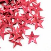 6.5 gram (200 stuks) Pailletten ster rood
