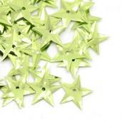 6.5 gram (200 stuks) Pailletten ster groen