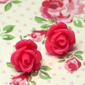 1 paar Stekertjes Roosje Fuchsia