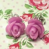 1 paar Stekertjes Roosje Lila/Roze