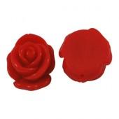 1x grote bloemkraal rood
