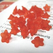 100x frosted bloemetje Rood